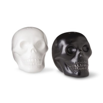 Sapota Halloween Ceramic Skull Salt & Pepper Shakers