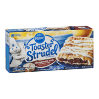 Pillsbury Toaster Strudel Pastries Cinnamon Roll with Brown Sugar - 6 CT