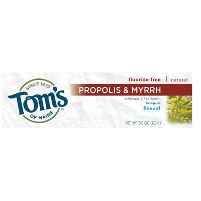 Toms Of Maine Tom's of Maine Natural Antiplaque Toothpaste, Fennel, 6-Ounce Tubes (Pack of 6)