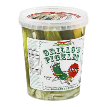 Grillo's Pickles Italian Dills Hot