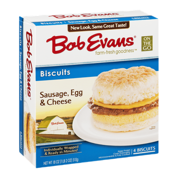 Bob Evans Biscuits Sausage, Egg & Cheese Individually Wrapped - 4 CT