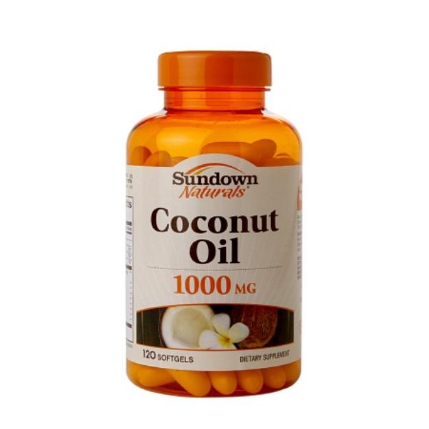 Sundown Naturals Coconut Oil 1000mg, Softgels