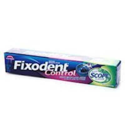 Fixodent Denture Adhesive Cream, Food Seal, Plus Scope Flavor, 2 oz.