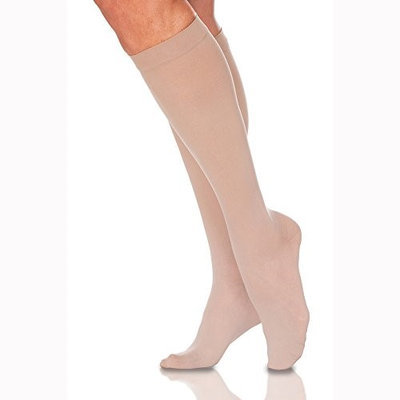Sigvaris EverSheer 781CSLW33 15-20 Mmhg Closed Toe Small Long Calf Hosiery For Women Natural