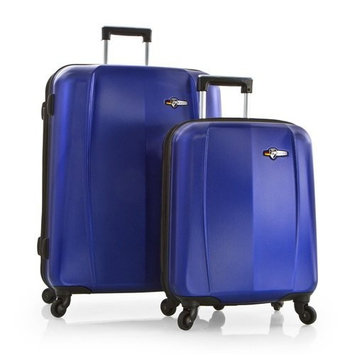 HEYS Viking Elite WIDEbody 2-piece (Metallic Blue) Lightweight Expandable Spinner Luggage Set