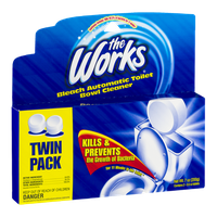 The Works Bleach Automatic Toilet Bowl Cleaner Tablets - 2 CT