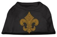 Mirage Pet Products 5231 XXXLBK Gold Fleur De Lis Rhinestone Shirts Black XXXL 20