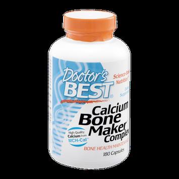 Doctor's BEST Calcium Bone Maker Complex Dietary Supplement Capsules - 180 CT