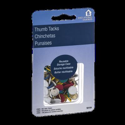 Helping Hand Thumb Tacks - 100 CT