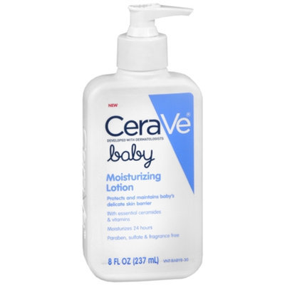 CeraVe Baby Lotion, Fragrance Free, 8 oz