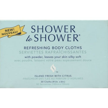 Shower to Shower Refreshing Body Cloths Island Fresh With Citrus