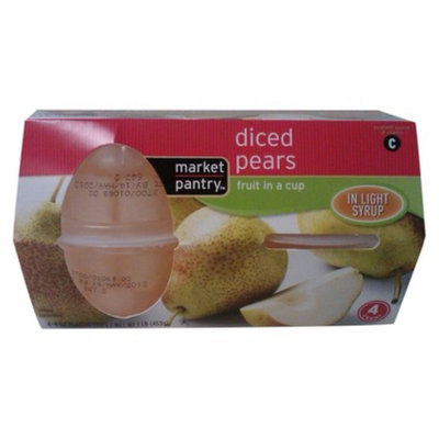 market pantry Market Pantry 4-pk. Diced Pears in Light Syrup Fruit Cups 4-oz.
