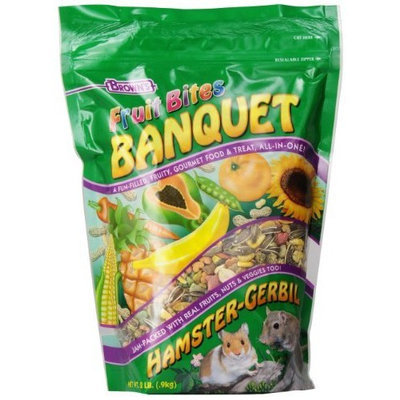 Fm Browns Fruit Bites Banquet Hamster and Gerbil Food, 2-Pound