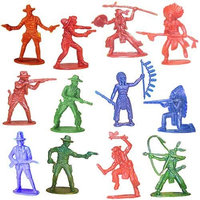 RINCO Cowboy & Indian Toy Figurines 144ct