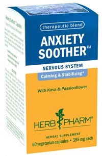 Herb Pharm - Anxiety Soother with Kava & Passionflower 385 mg. - 60 Vegetarian Capsules