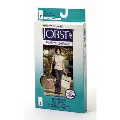 Jobst Women's CasualWear 20-30 mmHg Knee High Sock Size: Large, Color: Black