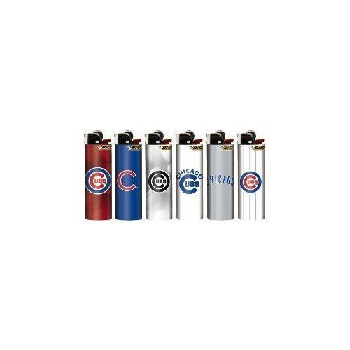 6pc Set BIC MLB Chicago Cubs Officially Licensed Lighters