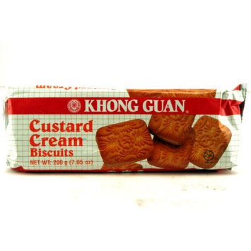 Khong Guan Custard Cream Biscuits - 7.05oz (Pack of 6)