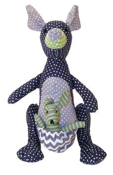 Trend Lab Stuffed Toy - Perfectly Preppy Kangaroo