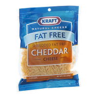 Kraft Natural Cheese Shredded Fat Free Cheese Cheddar