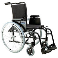 Drive Medical Cougar Ultra Light Wheelchair, 18-inch Detachable T