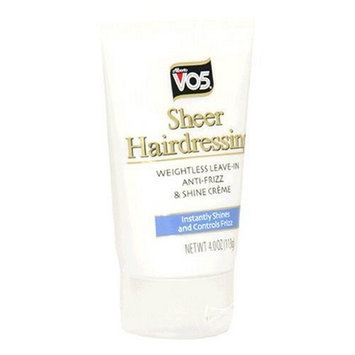 Alberto VO5 Sheer Hairdressing, Anti-Frizz, 4-Ounces (Pack of 6)