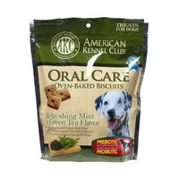 American Kennel Club AKC Oral Care Oven-Baked Biscuits with Refreshing Mint and Green Tea Flavor