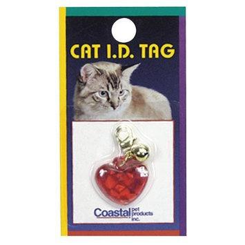 COASTAL PET PRODUCTS, INC. Coastal Pet Cat Id Tag Heart Red