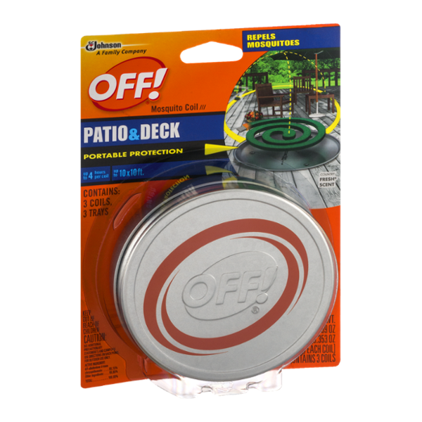 OFF! Mosquito Coil Patio & Deck Country Fresh Scent - 3 CT