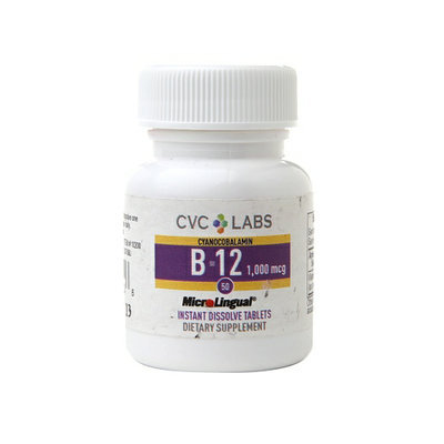 CVC Labs B-12 1000 mcg Dietary Supplement Instant Dissolve Tablets