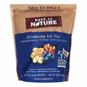 Back to Nature Granola to Go Wild Blueberry Walnut with Flax Seed