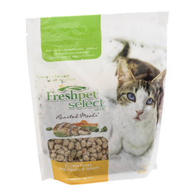 Freshpet Select Roasted Meals Chicken Recipe With Carrots & Spinach Cat Food