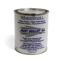 Rust Bullet WSQ WhiteShell Rust Preventative and Protective Coating Paint, 1 Quart Metal Can, Gloss White