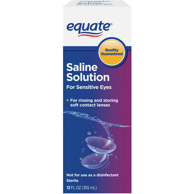 Equate Sterile For Sensitive Eyes Saline Solution 12 fl oz