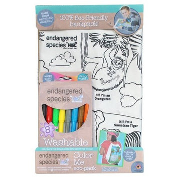 Endangered Species by Sud Smart Color Me Eco-Pack Activity Back Pack