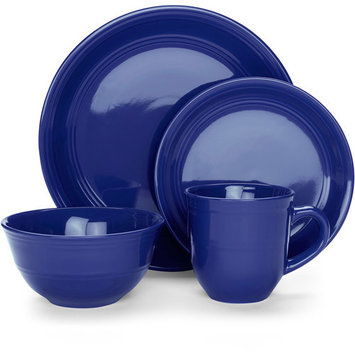 Mainstays 16-Piece Stoneware Dinnerware Set, Assorted Colors