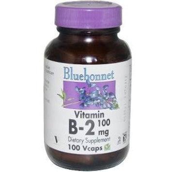Bluebonnet Vitamin B-2 100 mg Vegetable Capsules, 100 Count