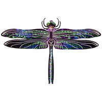 Next Innovations Outdoor Wall Art:  Blue RefraXions 3D Dragonfly : L