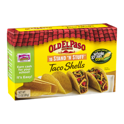 Old El Paso Stand 'N Stuff Taco Shells - 15 CT