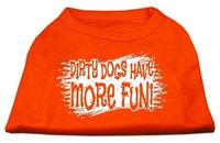 Mirage Pet Products 51-125 MDOR Dirty Dogs Screen Print Shirt Orange Med - 12