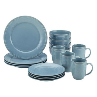 Rachael Ray Cucina 16 Piece Dinnerware Set - Blue