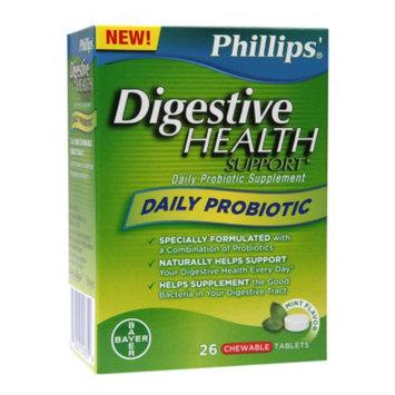 Phillips Daily Probiotic, Chewable Tablets, Mint, 26 ea