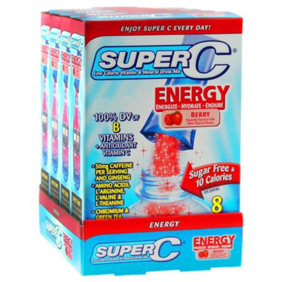 Super C Energy Vitamin & Mineral Drink Mix, Berry, 32 ea