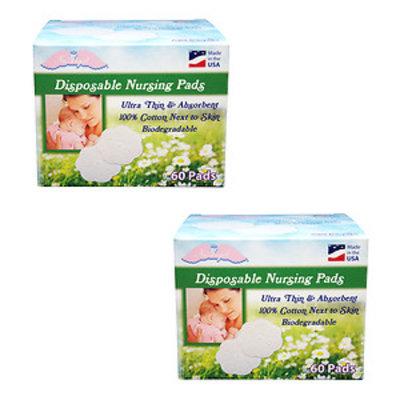 Nuangel, Inc. NuAngel All-natural Cotton Biodegradable Cotton Nursing Pads
