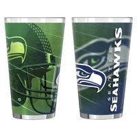 NFL Seattle Seahawks Boelter Brands 2 Pack Shadow Style Pint Glass