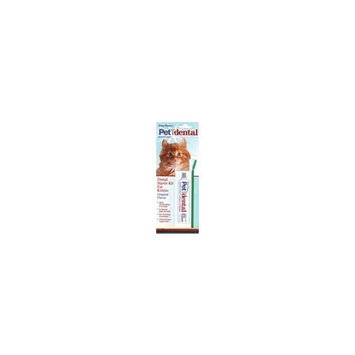 Four Paws Pet Dental with Fluoride Toothbrush & Toothpaste Kit for Cats (Original Flavor)