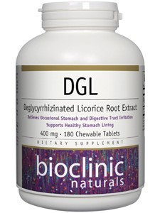Bioclinic Naturals - DGL 400 mg. - 180 Chewable Tablets