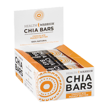 Health Warrior Chia Bars Chocolate Peanut Butter - 15 CT