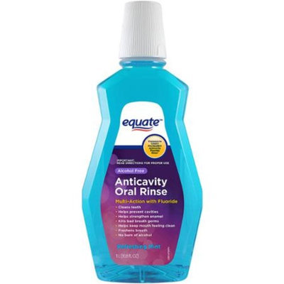 Equate Alcohol Free Refreshing Mint Anticavity Oral Rinse, 33.8 fl oz