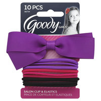 Goody Products Inc. Girls Bow Salon Clip and Elastics, 10 pcs